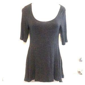 3/4 Sleeve Dress Grey